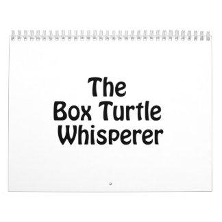 el whisperer de la tortuga de caja calendario de pared