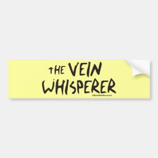 El Whisperer de la vena de la enfermera Etiqueta De Parachoque