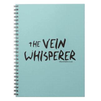 El Whisperer de la vena de la enfermera Libros De Apuntes Con Espiral
