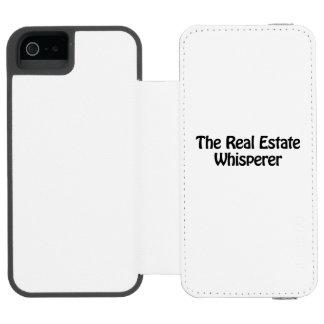 el whisperer de las propiedades inmobiliarias funda billetera para iPhone 5 watson