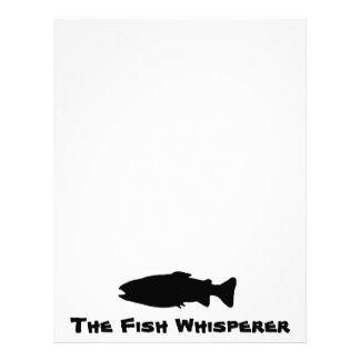 El whisperer de los pescados plantilla de membrete