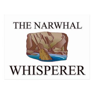 El Whisperer de Narwhal Tarjetas Postales