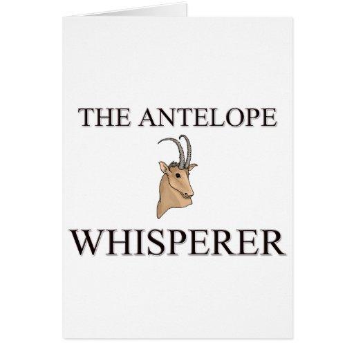 El Whisperer del antílope Tarjeta De Felicitación