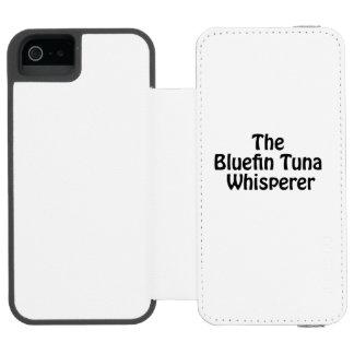 el whisperer del atún de bluefin funda billetera para iPhone 5 watson