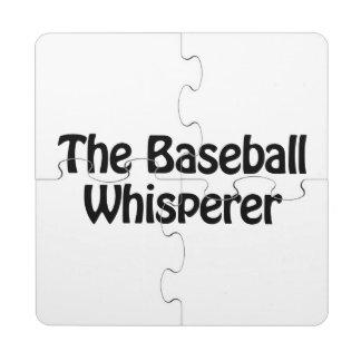 el whisperer del béisbol posavasos de puzzle