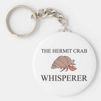 El Whisperer del cangrejo de ermitaño Llavero Redondo Tipo Pin
