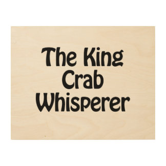el whisperer del cangrejo de rey cuadro de madera