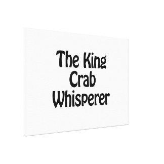el whisperer del cangrejo de rey lienzo envuelto para galerías