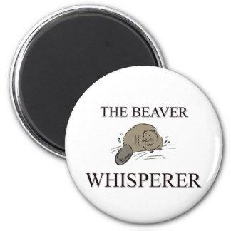 El Whisperer del castor Imanes De Nevera
