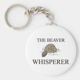 El Whisperer del castor Llavero Redondo Tipo Pin