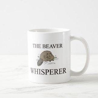 El Whisperer del castor Taza Clásica