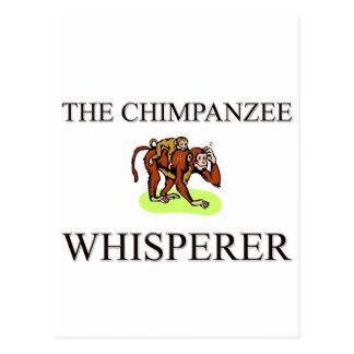 El Whisperer del chimpancé Tarjetas Postales