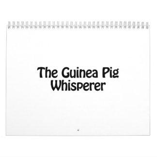 el whisperer del conejillo de Indias Calendario