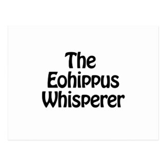 el whisperer del eohippus tarjetas postales