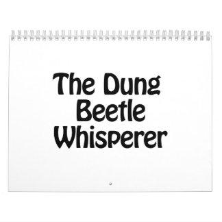 el whisperer del escarabajo de estiércol calendarios de pared