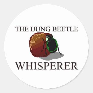 El Whisperer del escarabajo de estiércol Pegatinas Redondas
