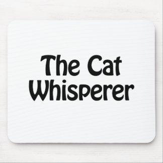 el whisperer del gato alfombrillas de ratón