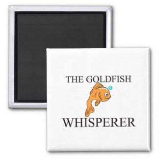 El Whisperer del Goldfish Imán Cuadrado