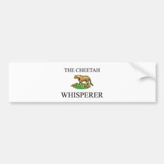 El Whisperer del guepardo Pegatina Para Coche