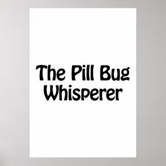 el whisperer del insecto de píldora póster