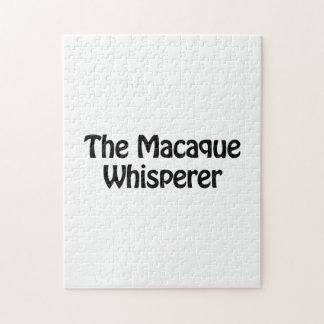 el whisperer del macaque rompecabeza con fotos
