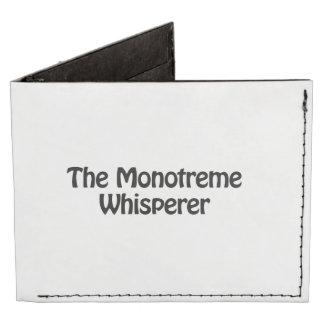 el whisperer del monotreme billeteras tyvek®