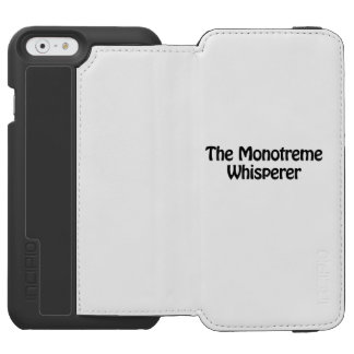 el whisperer del monotreme funda billetera para iPhone 6 watson