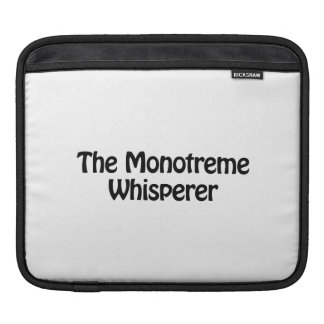 el whisperer del monotreme funda para iPads