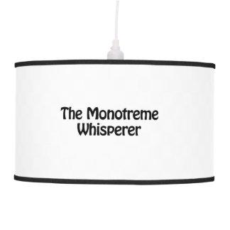 el whisperer del monotreme lámpara de techo