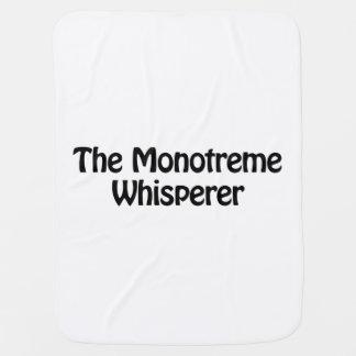 el whisperer del monotreme mantita para bebé