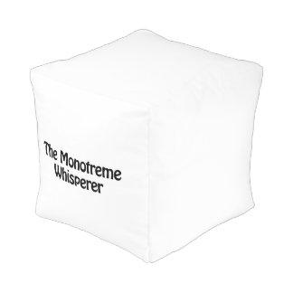 el whisperer del monotreme pouf cuadrado