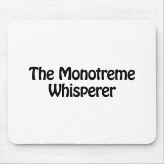 el whisperer del monotreme alfombrilla de raton
