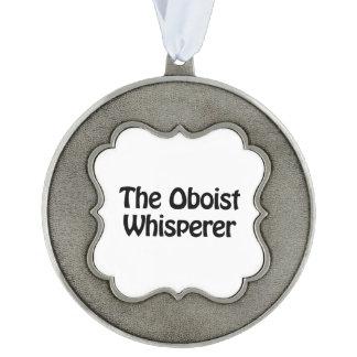 el whisperer del oboe adorno ondulado de peltre