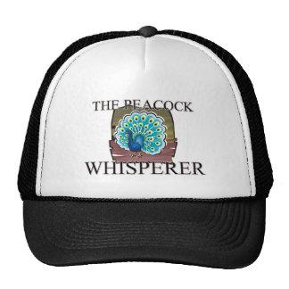 El Whisperer del pavo real Gorros Bordados