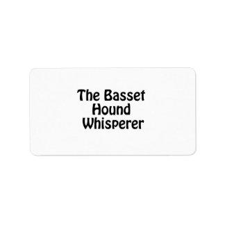 el whisperer del perro de afloramiento etiquetas de dirección