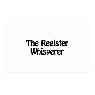 el whisperer del registro tarjetas de visita