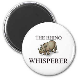 El Whisperer del rinoceronte Imán Redondo 5 Cm