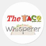 El Whisperer del Taco Etiquetas Redondas