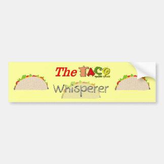 El Whisperer del Taco Pegatina Para Auto