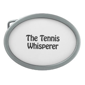 el whisperer del tenis hebilla de cinturón oval