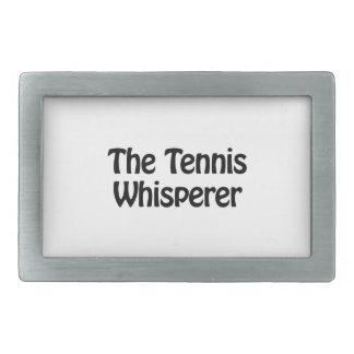 el whisperer del tenis hebilla de cinturón rectangular