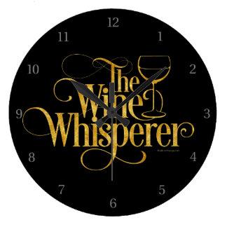 El Whisperer del vino Reloj Redondo Grande