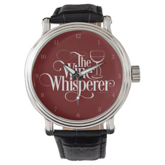 El Whisperer del vino Relojes De Pulsera