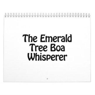 el whisperer esmeralda de la boa del árbol calendario