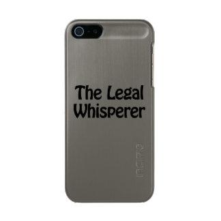 el whisperer legal funda para iPhone 5 incipio feather shine