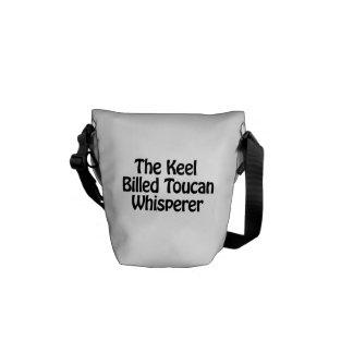 el whisperer toucan cargado en cuenta quilla bolsa messenger