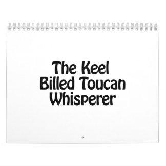el whisperer toucan cargado en cuenta quilla calendarios de pared