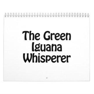 el whisperer verde de la iguana calendarios de pared