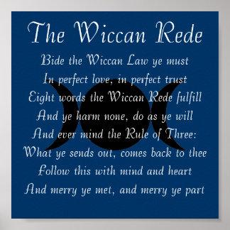 El Wiccan Rede (versión corta) Impresiones