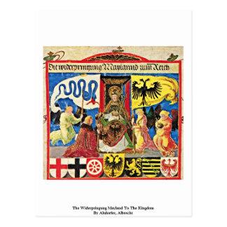 El Widerpringung Mayland al reino Tarjetas Postales